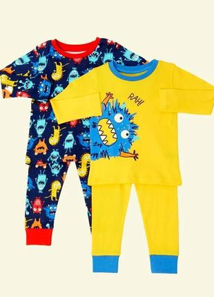 Набор из 2 шт ярких пижамок от dunnes stores из англии на 2-3