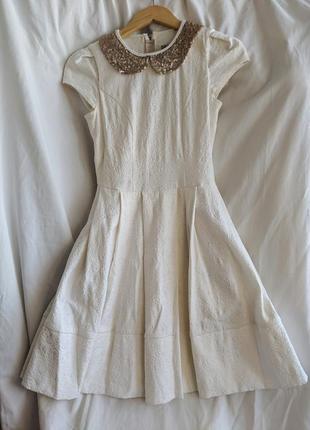Жаккардовое нарядное платье andre tan