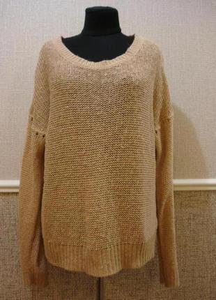 Удлиненная вязанная кофта с длинным рукавом большого размера 18(xxxl).