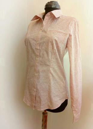 Брендовая блуза рубашка стрейч коттон