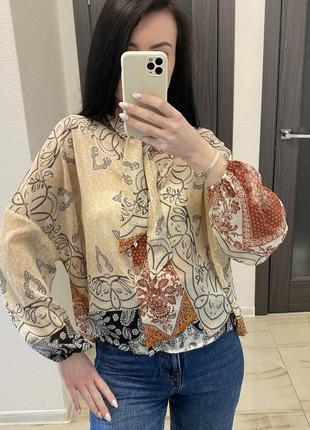 Блуза рубашка жіноча stradivarius