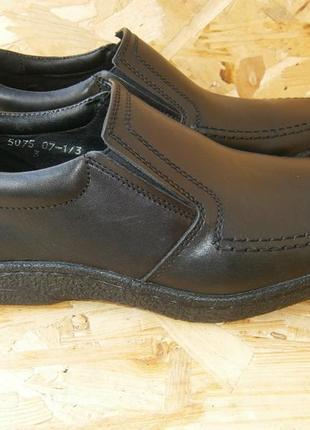 Туфли мужские черные демисезонные кожаные натуральная кожа