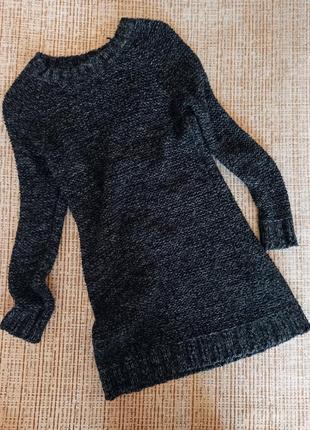 Платье тёплое вязаное