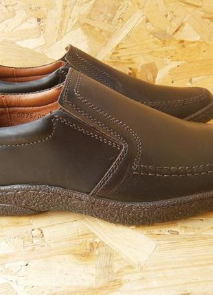 Туфли мужские коричневые демисезонные кожаные натуральная кожа