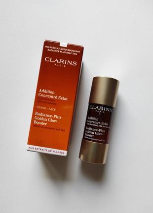Капли - концентрат с эффектом искусственного загара для лица (автозагар) clarins