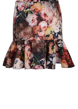 Симпатичная юбка в цветочек от moxito.
