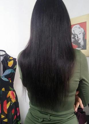Натуральные волосы для наращивания швеция 38 см rapunzel of sweden черн.