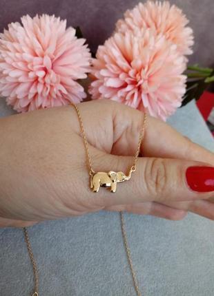 Подвеска слоник! медицинское золото! xuping