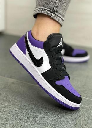 Женские кроссовки air jordan 1 low purple