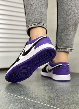 Женские кроссовки air jordan 1 low purple7 фото