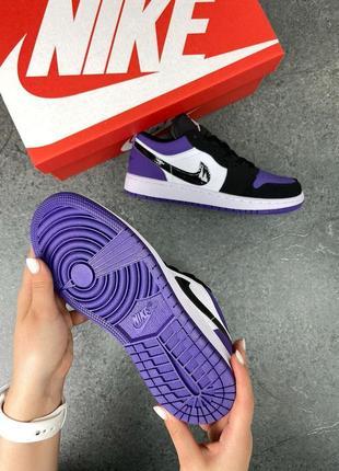 Женские кроссовки air jordan 1 low purple4 фото