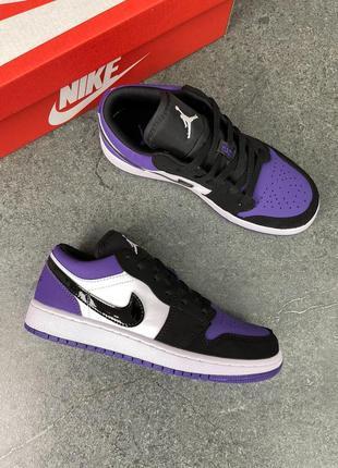 Женские кроссовки air jordan 1 low purple2 фото
