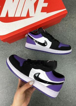 Женские кроссовки air jordan 1 low purple5 фото
