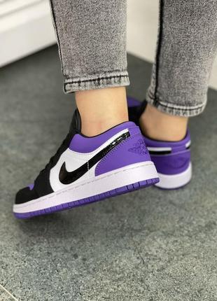 Женские кроссовки air jordan 1 low purple3 фото