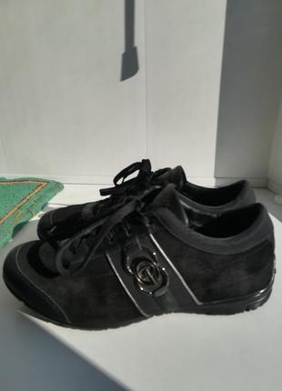 Кроссовки из натур. замши и кожи.1 фото