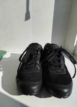Кроссовки из натур. замши и кожи.2 фото
