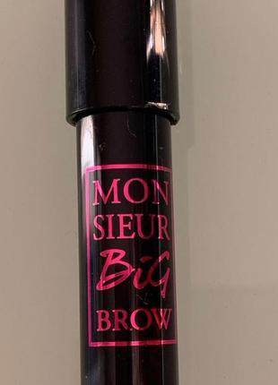 Карандаш тени для бровей lancome monsieur big brow с кисточкой кабуки