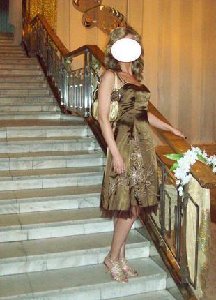 Нарядное элегантное платье сotton club, s-m