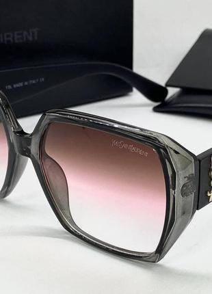 Ysl женские солнцезащитные очки серая геометрия с градиентом