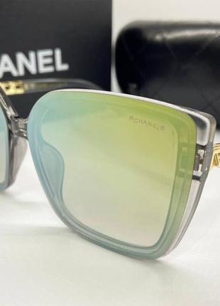 Chanel очки женские солнцезащитные зеркальные бабочки с фигурными дужками