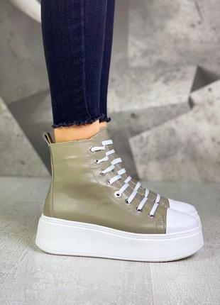 ❤ женские кожаные весенние демисезонные ботинки ❤