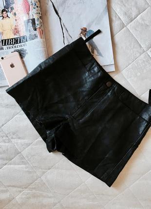 Шорты под кожу кожаные шортики короткие
