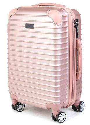 Дорожный чемодан из поликарбоната pioneer ally пудра