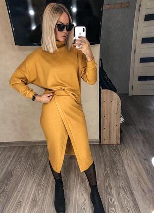Костюм🍁 свитер юбка ангора  тёплый2 фото