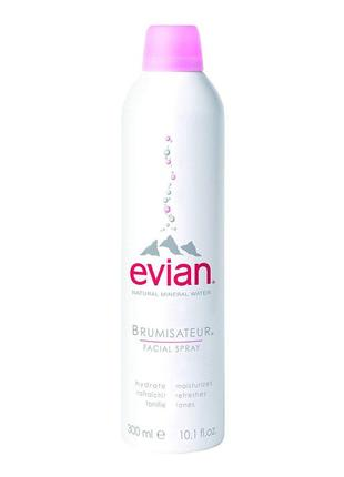 Evian 300 мл термальная вода спрей для лица и тела
