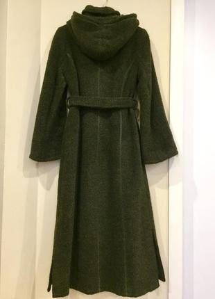 Шикарное итальянское мохеровое с шерстью пальто