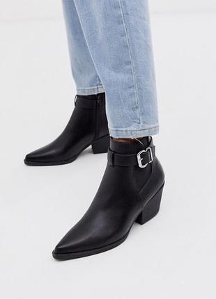 Кожаные демисезонные полусапожки ботинки челси козаки ботильоны