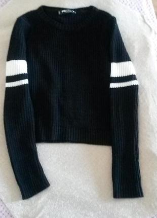 Fb sister стильный свитер кроп 10-14 лет или xs