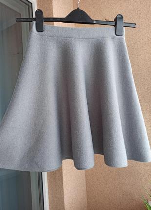 Красивая стильная юбка полусолнце из плотного трикотажа