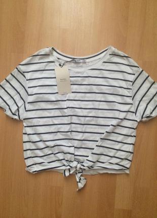 Короткая футболка bershka с биркой
