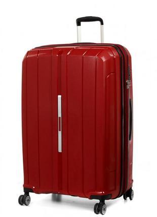 Стильный чемодан на колесах полипропилен snowball  83803