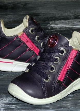 Детские оригинальные, кожаные, невероятно крутые ботинки ecco first