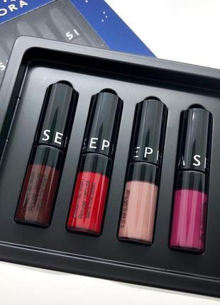 Набор мини бестселлеров кремовых помад sephora collection - cream lip stain set