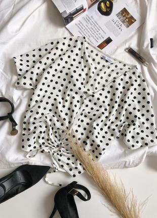 Блуза в горох від zara/актуальна модель