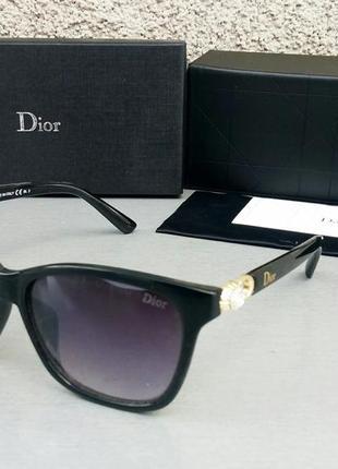 Christian dior очки женские солнцезащитные черные с камнями