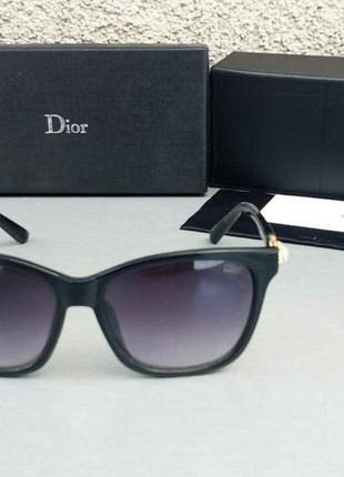 Christian dior очки женские солнцезащитные черные с камнями2 фото