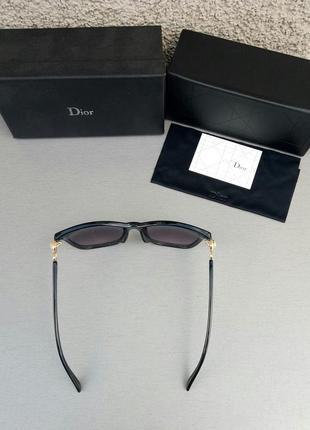 Christian dior очки женские солнцезащитные черные с камнями5 фото