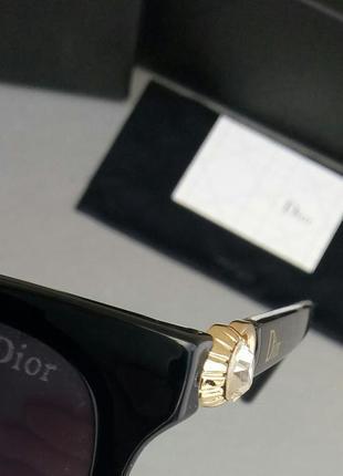 Christian dior очки женские солнцезащитные черные с камнями9 фото