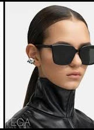 Чёрные модные очки унисекс tega от gentle monster!