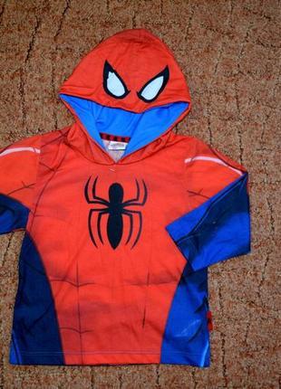 Кофта реглан  с капюшоном человек паук