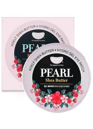 Гидрогелевые патчи petitfee&koelf pearl & shea butter eye patch, 60 шт