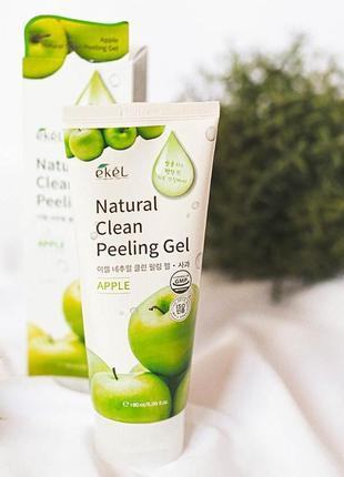 Пилинг-скатка с фруктовыми кислотами ekel apple natural clean peeling gel