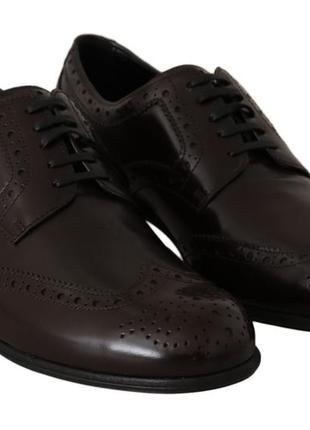Коричневые кожаные туфли dolce & gabbana