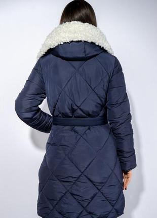 Зимнее пальто (куртка) с меховыми вставками, xs-s, s-m, m-l4 фото