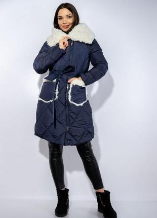 Зимнее пальто (куртка) с меховыми вставками, xs-s, s-m, m-l3 фото