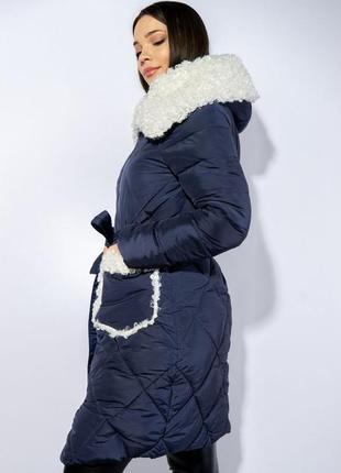 Зимнее пальто (куртка) с меховыми вставками, xs-s, s-m, m-l5 фото